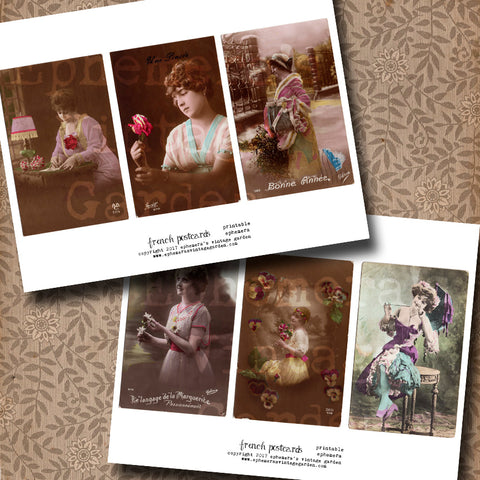 French Postcards - Ladies
