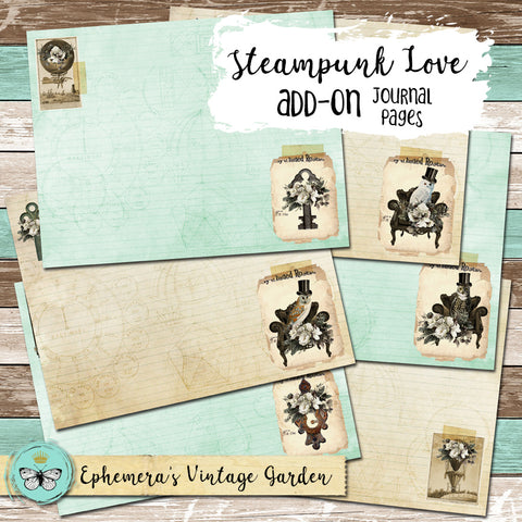 Steampunk Love - Journal Pages