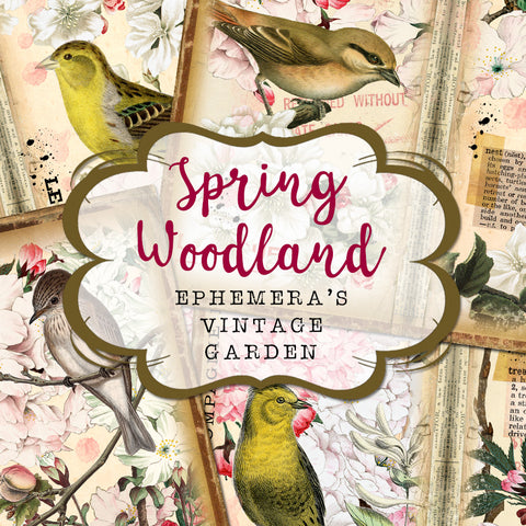 Spring Woodland - Printable Traveller's Notebook Kit