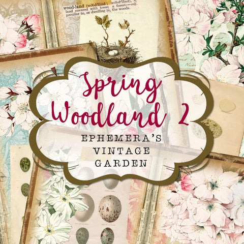 Spring Woodland 2 - Printable Traveller's Notebook Kit