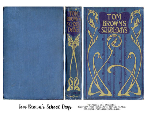 Vintage Book Cover - Tom Brown's School Days