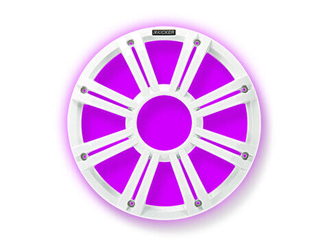 "Kicker-45KMG10W-KM/KMF-10""-White-LED-Grille"