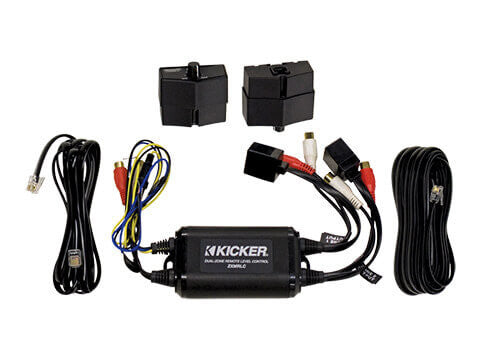Kicker 10ZXMRLC - ZXMRLC Dual-Zone Remotes - Weather-Resistant Dual Zone Remote Level Control
