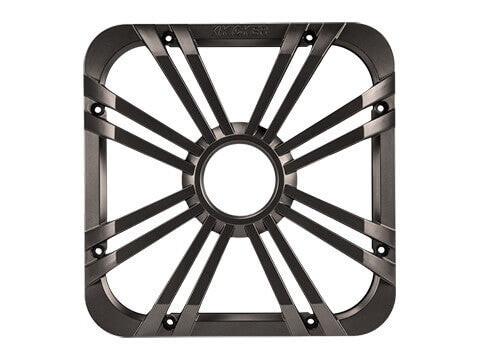 "Kicker 11L710GLC - 10"" Square Charcoal LED Grille - 10-Inch (25cm) Square Subwoofer Grille for 44L7S10, LED, Charcoal."