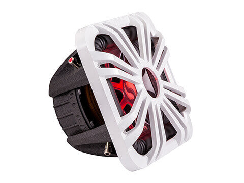 "Kicker 11L710GLW - 10"" Square White LED Grille - 10-Inch (25cm) Square Subwoofer Grille for 44L7S10, LED, White."