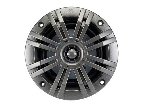 "Kicker 41KM44CW - KM 4"" 4Ω Coaxial - KM4 4-Inch (100mm) Marine Coaxial Speakers w/ 1/2- Inch (13mm) tweeters, Charcoal and White, 4-Ohm"