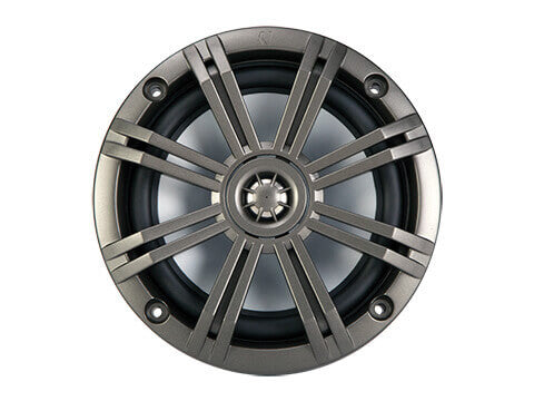 "Kicker 41KM652C - Kicker KM 6.5"" 2Ω Coaxial - KM65 6.5-Inch (160mm) Marine Coaxial Speakers w/3/4-Inch (20mm) Tweeters, Charcoal, 2-Ohm."