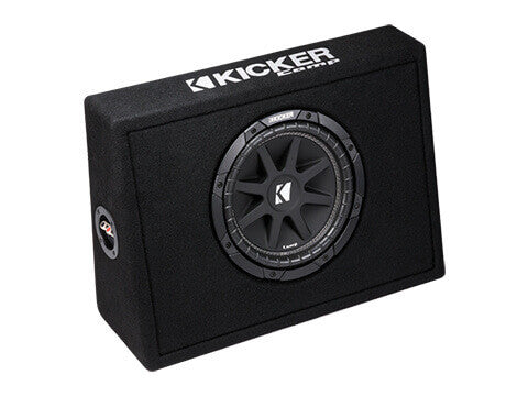 "Kicker 43TC104 - Single 10"" Comp 4 Ohm Enclosure - TC10 Single Comp 10-Inch Sub in Thin Profile Vented Box, 4-Ohm, 150W"