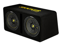 "Kicker 44DCWC122 - Dual 12"" CompC Enclosure - Dual CompC 12-Inch (30cm) Subs in Vented Enclosure, 2-Ohm, 600W"