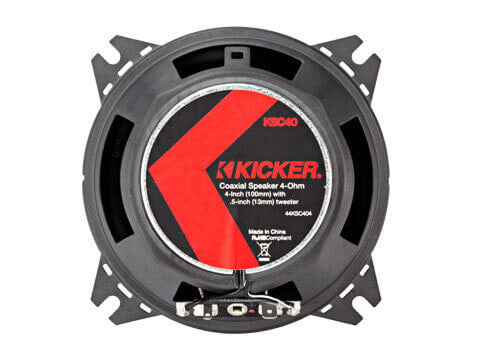 "Kicker 44KSC404 - KS Series 4"" Coax - KSC40 4-Inch (100mm) Coaxial Speakers w/.5-Inch (13mm) tweeters, 4-Ohm"