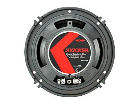 "Kicker 44KSC6504 - KS Series 6.5"" Coax - KSC650 6.5-Inch (160mm) Coaxial Speakers w/.75-Inch (20mm) tweeters, 4-Ohm"