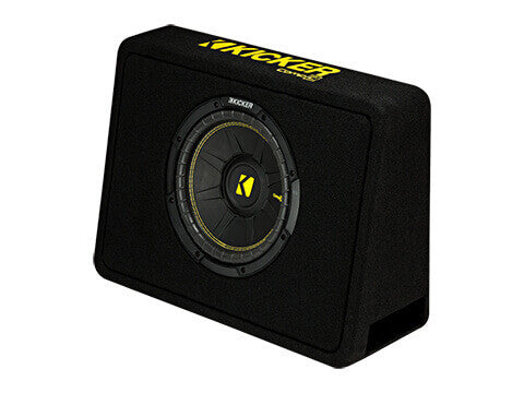 "Kicker 44TCWC102 - 10"" CompC Enclosure - CompC 10-Inch (25cm) Sub in Thin Profile Enclosure, 2-Ohm, 300W"
