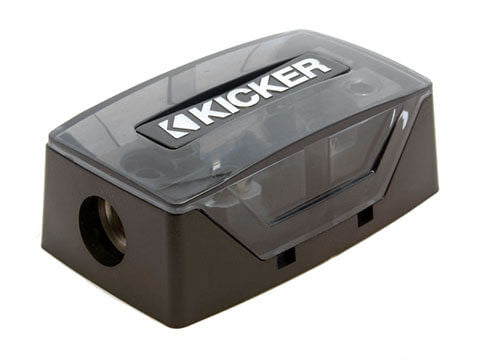 Kicker FHD - FHD Dual AFS Fuse Holder -  FHD – AFS fuse holder, 1/0-8 AWG in/out, dual fuse