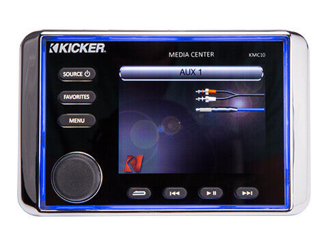 Kicker KMC10 - KMC10 Media Center - KMC10 All-In-One Marine Media Center w/Bluetooth®