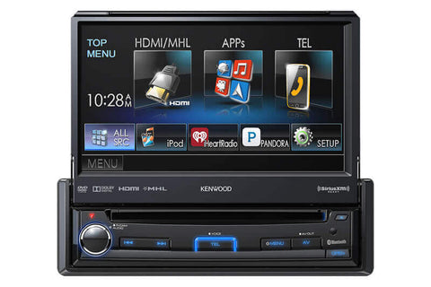 Kenwood KVT-7012BT - In-Dash 1-Din Monitor Receiver with Bluetooth