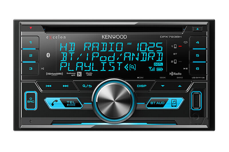 Kenwood-eXcelon-DPX793BH-2-DIN-CD-Receiver-with-Bluetooth-&-HD-Radio