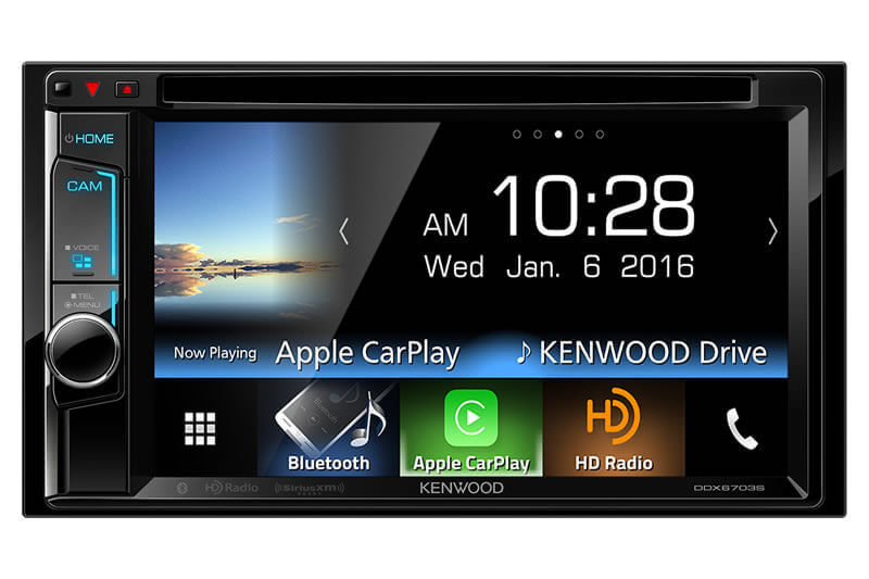 Kenwood DDX6703S - 2-DIN Monitor Receiver with Bluetooth and HD Radio