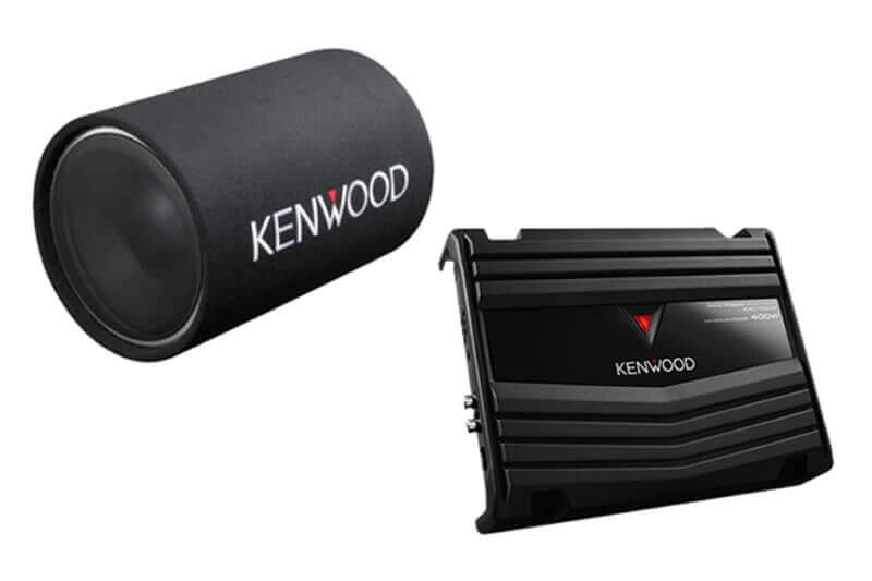 "Kenwood P-W131TB-12""-Tube-Subwoofer-Party-Pack-(KAC-5207 & KSC-W1200T)"