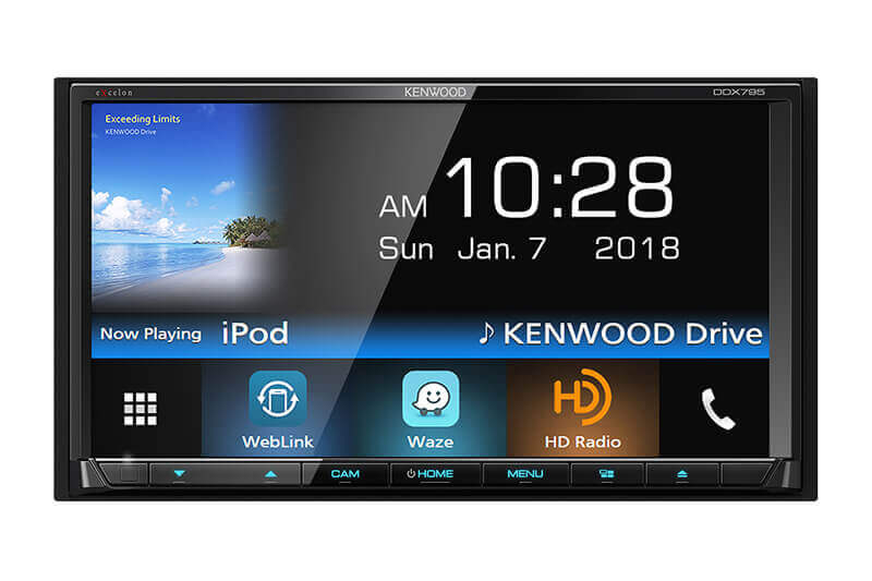 "Kenwood-eXcelon-DDX795-6.95""-DVD-Receiver-with-Bluetooth-&-HD-Radio"