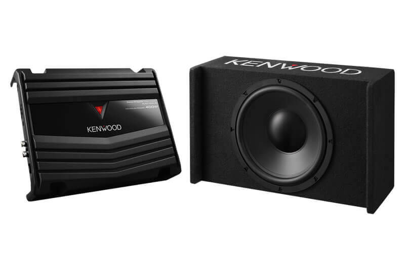 Kenwood P-W121B-Sealed-Enclosure-Box-Subwoofer+KAC-5207-Package