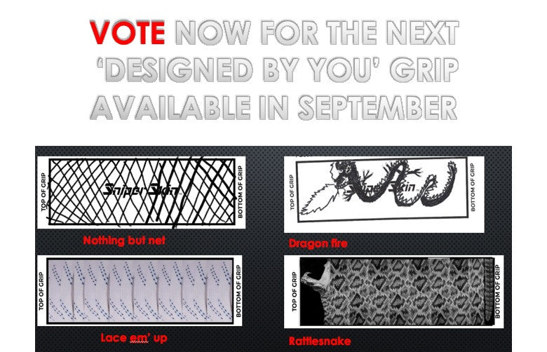 VOTE FOR YOUR FAVOURITE GRIP PATTERN DESIGNED BY YOU