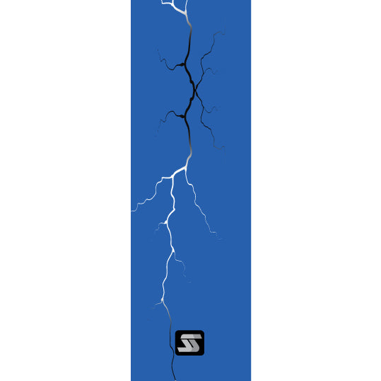 blue lightning fishing rod grip