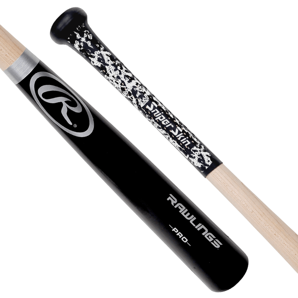 Black bat grip, white print, commander pattern