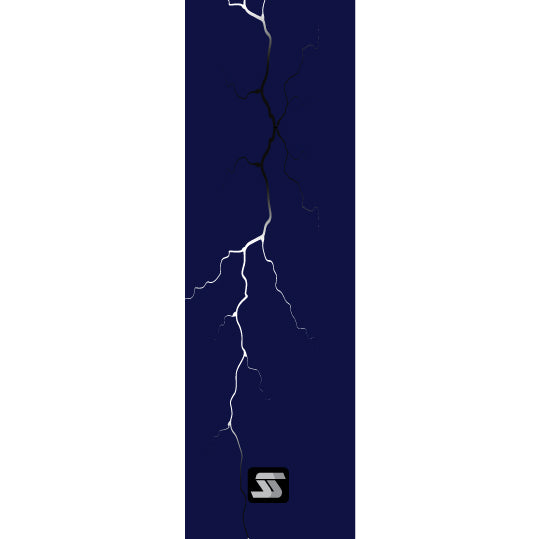 dark blue lightning fishing rod grip