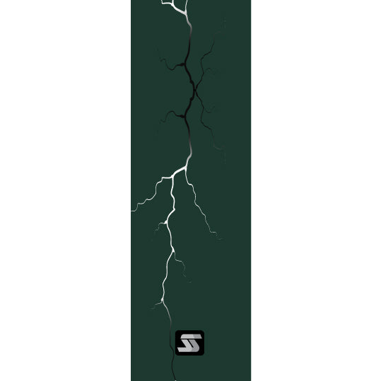 dark green lightning fishing rod grip