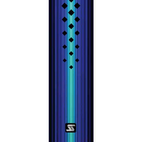 Blue diamond hockey grip