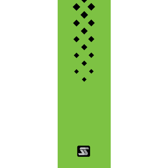 Diamond green hockey grip