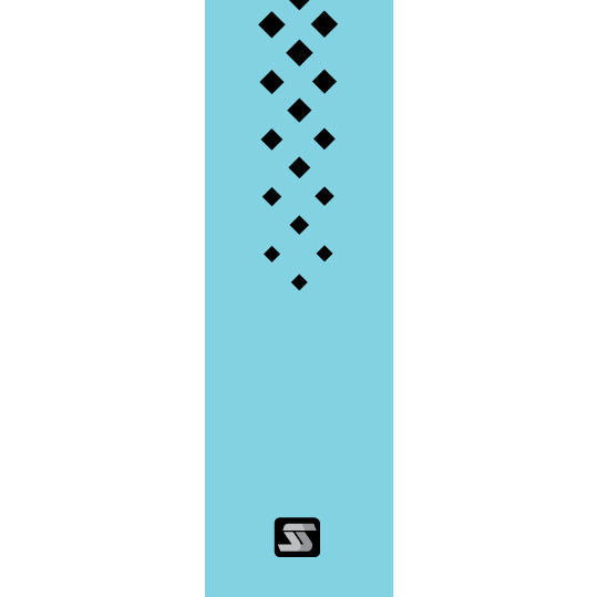 Diamond light blue hockey grip