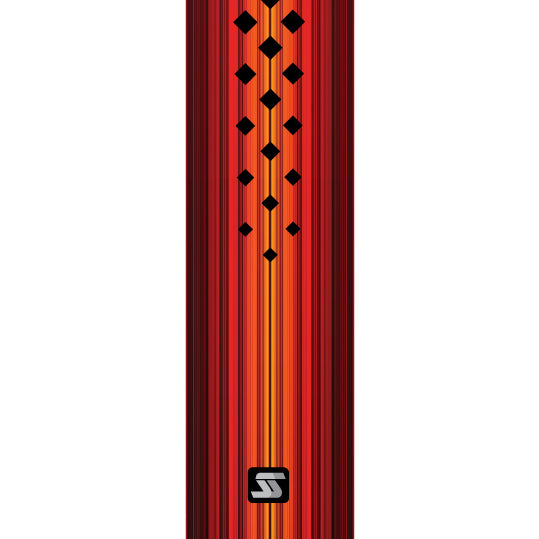 Diamond red hockey grip