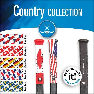 hockey grips flags
