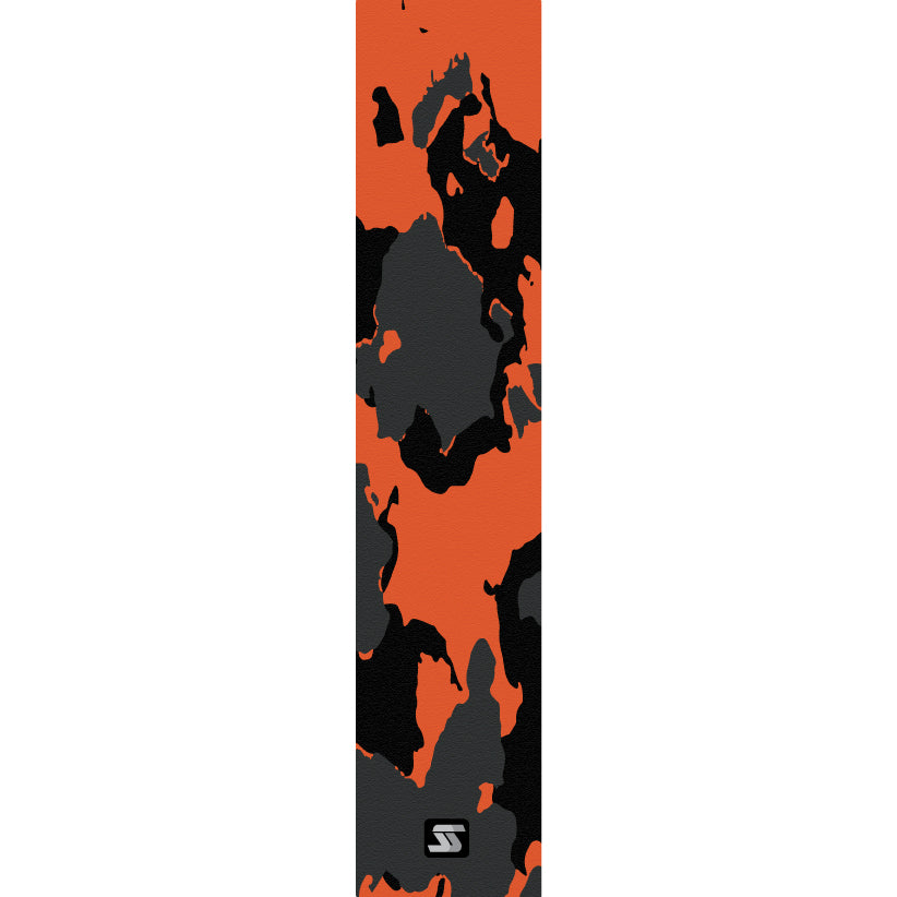 tiger orange/black fishing grip