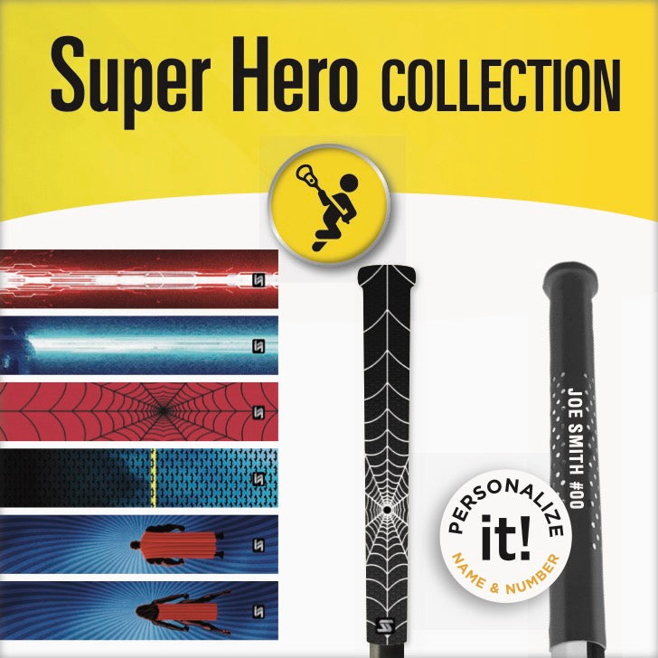 super hero lacrosse grips