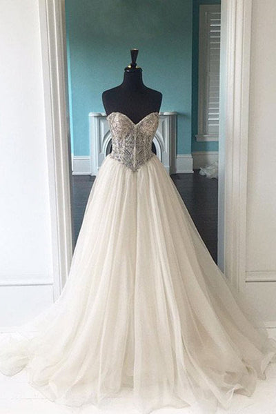 Sweet 16 Dresses | White organza lace sweetheart long wedding dresses,ball gown dress