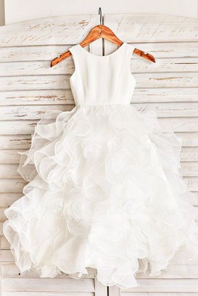 Sweet 16 Dresses | Princess white tulle layer long girls dress, ball gown