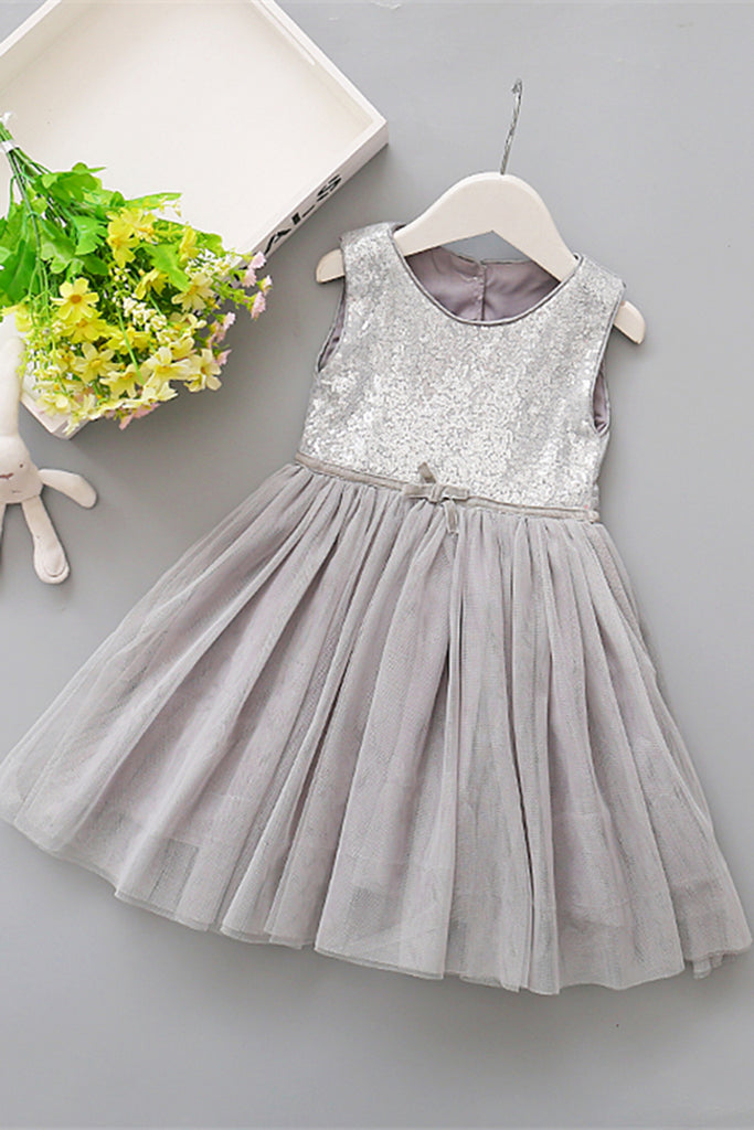Sweet 16 Dresses | Colorful tulle round neck sequins halter girls dress