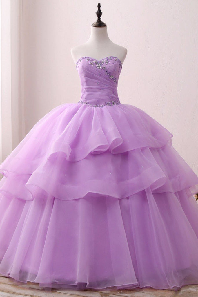 69b2a2ab812 Elegant Cheap lavender Quinceanera Dresses 2018 Ball Gown Sweetheart Organza Sweet 16 Dress Beaded Long Party Gowns 1024x1024.jpg v 1543461190