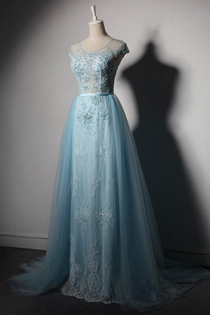 2021 Lace Prom Dresses Long Women Formal Evening Dress