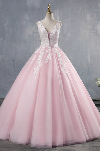 Pink Tulle Sweet Dusty Prom Dresses Long StrapsTulle Evening Gown Formal Dress