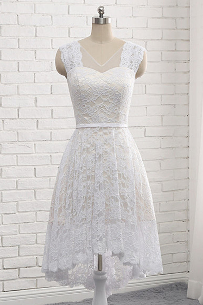 3221abacef36 High Low Country Style Lace Short Wedding Dresses For Bride 1024x1024.jpg v 1548390478