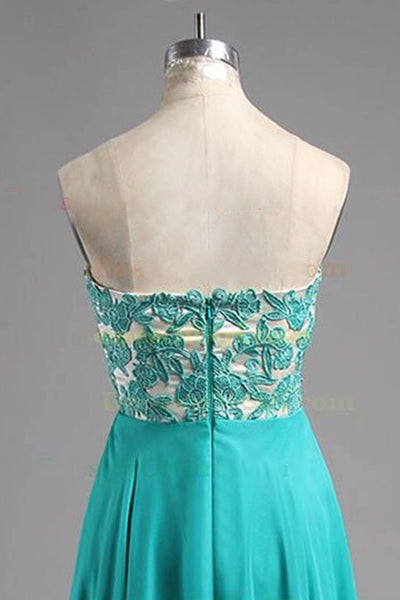 Sweet 16 Dresses | Turquoise chiffon lace sweetheart long dresses,evening dresses for teens