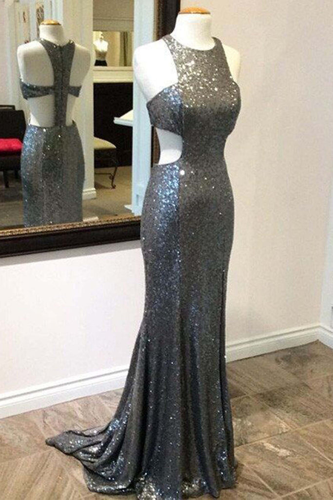 Sweet 16 Dresses | Sliver sequins slim-line mermaid long prom dresses,evening dresses