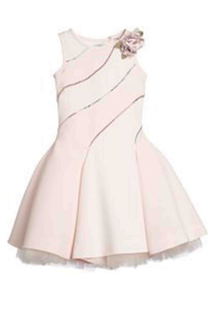 Sweet 16 Dresses | Ivory pink chiffon handmade flowers dress ,girls dress