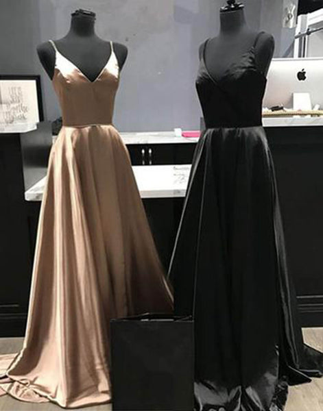 Sweet 16 Dresses | Big discount new 2019 long satin A-line bridesmaid dress, long graduation dress