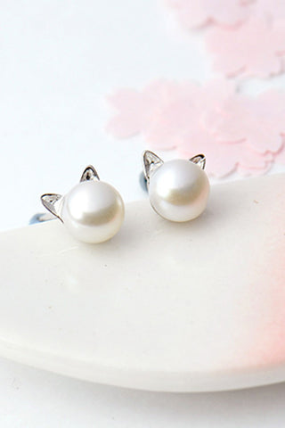 Elegant Pearl Earring, 925 Sterling Silver Party Earring - prom dresses 2018