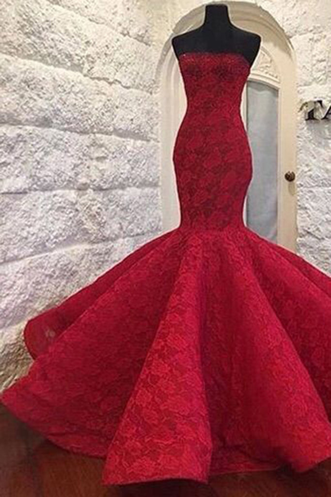 Luxury lace sweetheart mermaid long dresses for teens,floor-length evening dresses - occasion dresses by Sweetheartgirls