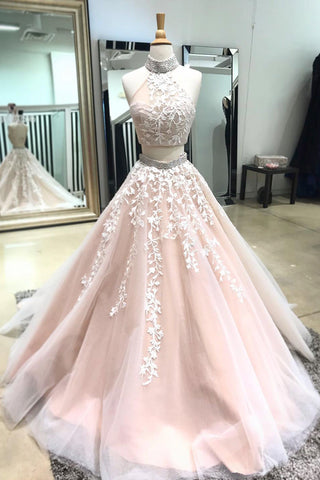 Blush colored prom dresses 2018 images